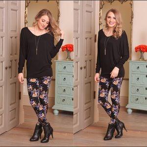🌷Plus size roses legging
